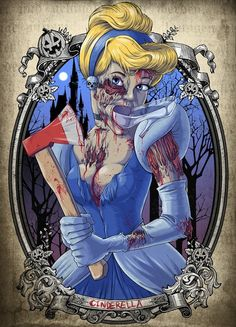 tattoo disney princess | Disney Princess Zombies