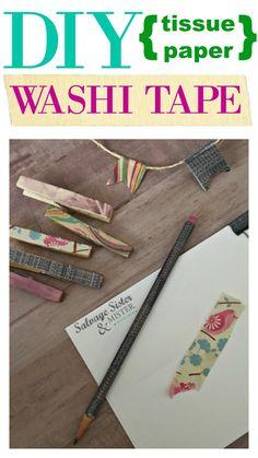 DIY Tissue Paper Was
