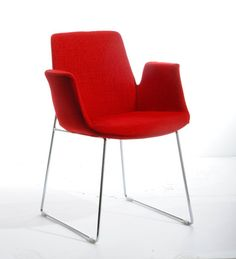 Hans J Wegner Style Shell Chair Walnut Red Leather Red Chairs