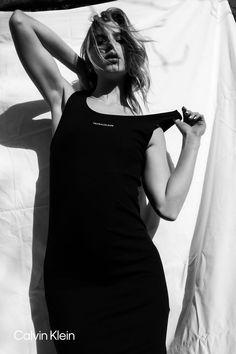 The light. Organic Rib Knit Sleeveless Dress. New texture. Ieke Booij by Lauren Daisy Sullings. #mycalvins Shop Summer. My Calvins, Calvin Klein Underwear, Calvin Klein Jeans, Rib Knit, Daisy, Organic, Texture, Sexy, Summer