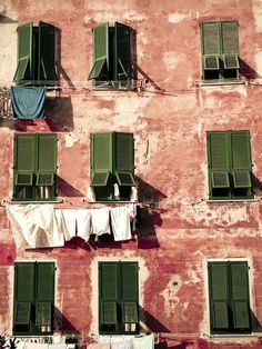 clothes hanging on a line...