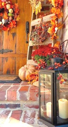 DIY fall decor,DIY fall decorations for home,pumpkins decor ideas,pumpkins crafts,thanksgiving decorations Thanksgiving Decorations, Seasonal Decor, Holiday Decor, Fall Decorations, Outdoor Decorations, Outdoor Thanksgiving, Autumn Decorating, Porch Decorating, Decorating Ideas