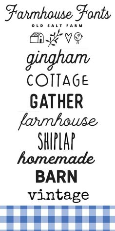 Farmhouse Font, Farmhouse Decor, Cute Fonts, Pretty Fonts, Farm Fonts, Font Combinations, Computer Font, Cricut Craft Room, Cricut Fonts