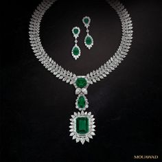 The Grand Esmeralda Suite—at the vanguard of haute joaillerie  With seven of the most spectacular examples of emeralds in the world, all of which are of superb verdant green and with unequaled natural transparencies, the Mouawad Grand Esmeralda Suite is destined to join the canon of the top emerald jewelry in the world.