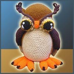 Amigurumi Crochet Pattern  Horned Owl by DeliciousCrochet on Etsy, $5.20