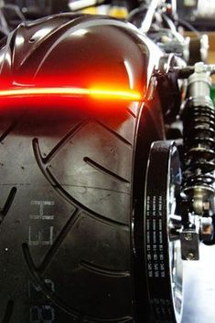 Flexible Array Motorcycle LED Brake Light bars with turn signals from Chrome Glow. Use as motorcycle LED brake light, motorcycle turn signals, and high powered led light bars. Scrambler Motorcycle, Motorcycle Style, Motorcycle Accessories, Motorcycle Gear, Honda Scrambler, Enfield Motorcycle, Custom Choppers, Custom Motorcycles, Custom Bikes