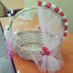 1st choice gifts: Multi purpose basket decorated with roses. Product available at: https://www.facebook.com/1stchoicegift