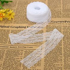 KINGSO 10 Yards White Embroidered Net Lace Trim Ribbon DIY Craft 3.5cm KINGSO http://www.amazon.com/dp/B010D3W0Z6/ref=cm_sw_r_pi_dp_7qk1wb1T4J3JW