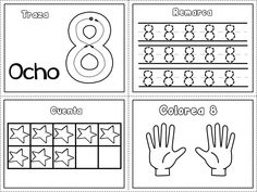 Grafomotricidad números del 1 al 10 – Imagenes Educativas Free Kindergarten Worksheets, American Symbols, First Grade, Classroom, Blog, Ideas Para, Spanish, Google, First Grade Math
