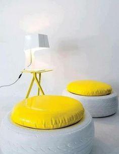 m bel aus autoreifen autoreifen recycling st nder pflanzen garten pinterest selbermachen. Black Bedroom Furniture Sets. Home Design Ideas