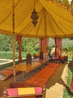 Yellow and Orange Marquee Wedding, Tent Wedding, Canopy Tent, Tents, Burning Man Camps, Doors Movie, Moroccan Party, Small Tent, Outdoor Buildings