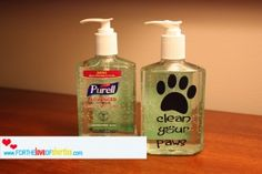 Add a fun custom label (use stickers, a Silhouette, or contact paper) to a bottle of hand sanitizer...fun for the shorties, fun gift for the classroom