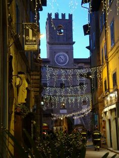 What Cortona looked like when we arrived during the holidays, 2012