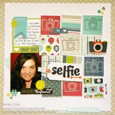 My Creative Scrapper June Creative Kit created by Becky Litz. Scrapbook Page Layouts, My Scrapbook, Scrapbooking Ideas, Scrapbooks, Mini Albums, Projects To Try, Card Making, Paper Crafts, Kit