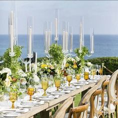 """#tablescape """"There's just something so magical about being outside by the water for a reception!"""" #revelryeventdesign"""