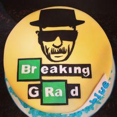 """Heisenberg """"Breaking """"GRAD"""" Cake for """"Breaking Bad"""" fan"""