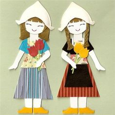 Unique Handmade Blog: Paper dolls - traditional dresses of many country