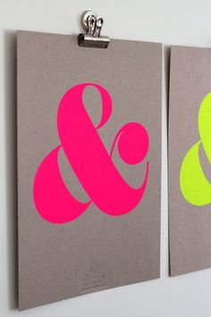 Neon Ampersand Posters from Ampersand Design Studios' new Ampersand Signature Series.