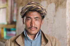 Ibrahim, a Hazara day laborer from a village in Bamian Province, poses for a portrait.- Hazaras | Steve McCurry