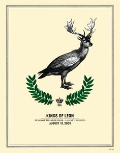 Gig posters, flyers and handbills from around the world! Vintage Music Posters, Concert Posters, Movie Posters, Kings Of Leon, Moose Art, Culture, Studio, Happy, Animals