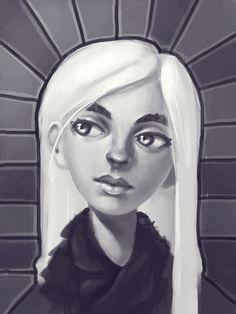 #35 by yukj on deviantART #girl #portrait #aisling #thesecretofkells