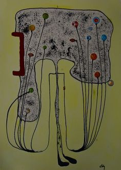 "Saatchi Online Artist ABBA ARTIST; Painting, ""football electroshock"" #art"