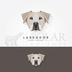 labrador retriever geometric logo icon
