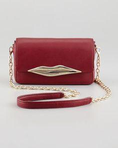 Flirty+Leather+Mini+Crossbody+Bag,+Cherry+by+Diane+von+Furstenberg+at+Bergdorf+Goodman.