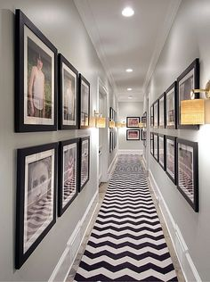 Unique: Nate Berkus Exhibits Us Inside His Decadent Atlanta Makeover 2020 - Hallway Ideas Hallway Wall Decor, Hallway Lighting, Hallway Walls, Hallways, Hallway Runner, Hallway Ideas, Hallway Pictures, Framed Pictures, Family Pictures