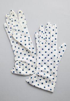 Vintage Something Bold, Something Blue Gloves circa 1970s
