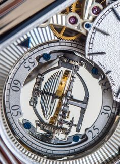 """Jaeger-LeCoultre Reverso Tribute Gyrotourbillon Watch Hands-On - by David Bredan - read more, see the photos, and of course the other side - on aBlogtoWatch.com """"Please allow me to begin this hands-on look at the all-new Jaeger-LeCoultre Reverso Tribute Gyrotourbillon on a personal note. While cool, fascinating, and technically impressive modifications, twists, and turns on the evergreen tourbillon mechanism have come and gone, the Gyrotourbillon has always been one of my absolute…"""
