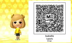 Isabelle (from Animal Crossing) QR code for Tomodachi Life!