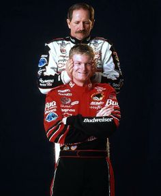 Father and son Earnhardt (Dale and Dale Jr. Dale Earnhart Jr, The Intimidator, My Champion, Chase Elliott, Nascar Racing, Auto Racing, Drag Racing, Tony Stewart, Sports Figures