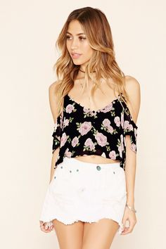 Forever 21 Women's Floral Off-the-Shoulder Top