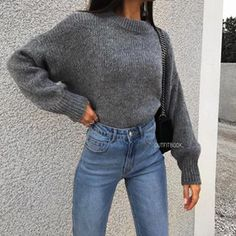 "c1773f43d7b www.outfitbook.fr on Instagram  ""Grey Jumper 🐰😍😍    🔎28076"