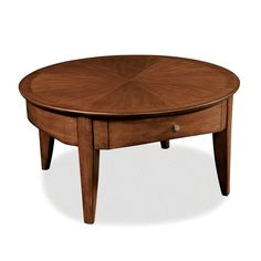 "Peters-Revington Davis Round Cocktail Table 36"" one drawer"