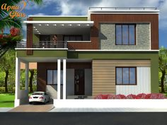 5 Bedrooms Duplex House Design in 240m2 (12m X 20m). Click here: (http://apnaghar.co.in/house-design-212.aspx) to view free floor plans (naksha) and other specifications for this design. You may be asked to signup and login. Website: www.apnaghar.co.in, Toll-Free No.- 1800-102-9440, Email: support@apnaghar.co.in