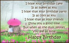 Need Happy Birthday Poems for your husband, wife, brother or sister? Find funny, short happy birthday poems for your friend, mom or daughter right here. Birthday Poems For Boyfriend, Funny Happy Birthday Poems, Romantic Birthday Messages, Happy Birthday Quotes For Him, Cute Birthday Wishes, Best Birthday Quotes, Happy Birthday Fun, Birthday Cake, Birthdays
