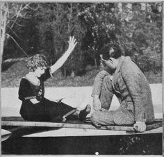 rare photo of jack and mary pickford studying lines together