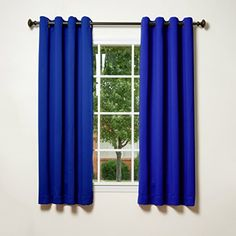 best home fashion thermal insulated blackout curtains u2014 antique bronze grommet top u2014 royal blue u2014 x u2014 tie backs included set of 2 panels