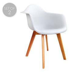 Set of 2 Replica Eames Chairs | White | Trendy Chairs & Tables @ The Home