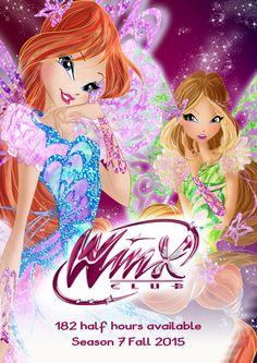 Nuevo cartel de Lanzamiento Winx Butterflyix Couture :D .....Es hermoso y la pose de Flora me Fascina ....... Segun el Cartel la 7 Temporada tendra como disponible 182 Horas Y Media para el 2015 .... Despues esta info se publicara en el blog justo con las de la muñecas :D