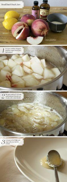 How to Make Small Batch PeachJam - Home - Oh, How Civilized