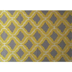 Hand-hooked Marrakesh Yellow Area Rug (5' x 7') | Overstock.com Shopping - Great Deals on Manam 5x8 - 6x9 Rugs