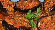 "Imam Bayildi (""The Priest Fainted""). Supposedly one of the most delicious eggplant dishes of all time. Bulgarian Recipes, Turkish Recipes, Greek Recipes, Ethnic Recipes, European Dishes, European Cuisine, Eggplant Dishes, Eggplant Recipes, Imam Bayildi Recipe"