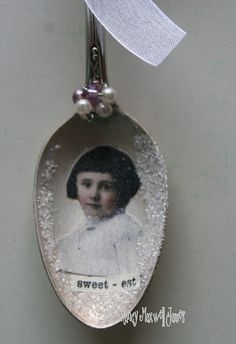 SWEETest Altered Whimsical Spoon Christmas Ornament