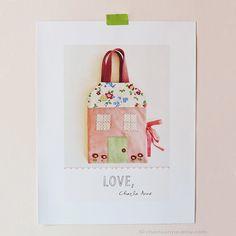 Casa de boneca de feltro Felt Dollhouse  Por/by charlaanne on Etsy