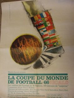 MOVIE POSTER- French 1966 GOAL World Cup film Eusebio superb artwork! | eBay