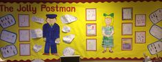 """For this year's Reception Class, EYFS topic, """"Jolly Postman"""", we not only did our story maps, we did character descriptions as well!"""