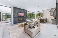16033 Valley Vista Blvd, Encino, CA 91436 featured on modciti Home Theater Receiver, Luxury Homes Dream Houses, Outdoor Furniture Sets, Outdoor Decor, Open Concept, My House, Building A House, Sweet Home, House Design